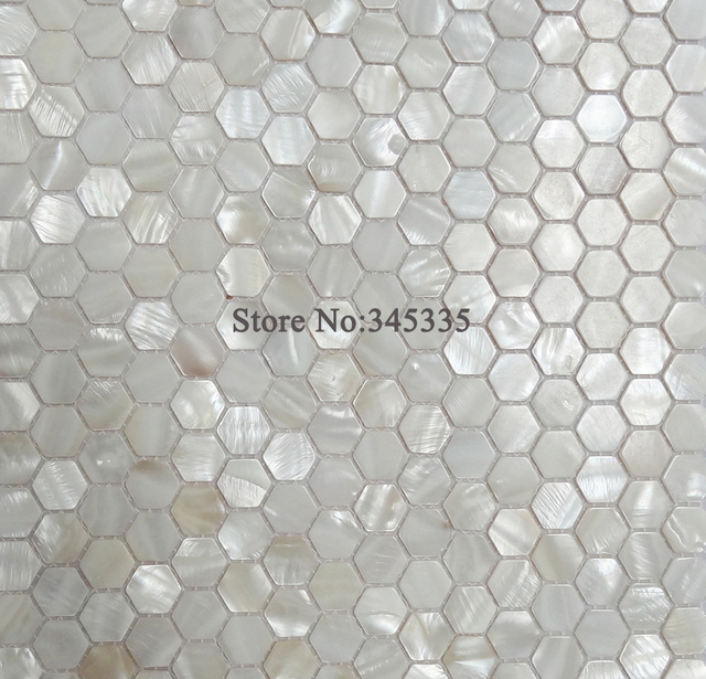 11 Pcs Blanc Hexagone Shell Carreaux De Mosaique De Nacre Cuisine