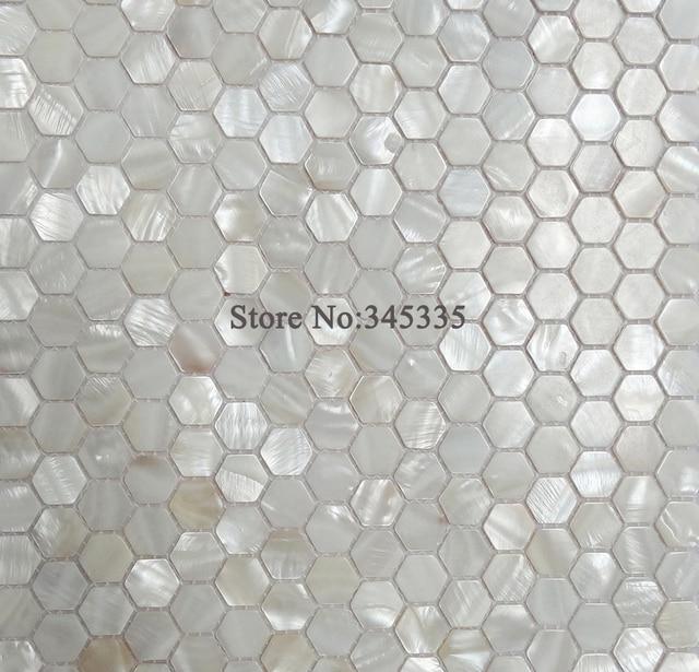 Stcke Wei Hexagon Shell Perlmutt Kche Dusche Tapete Badezimmer Backsplash  Fliesen Groverkauf Der Fabrik.