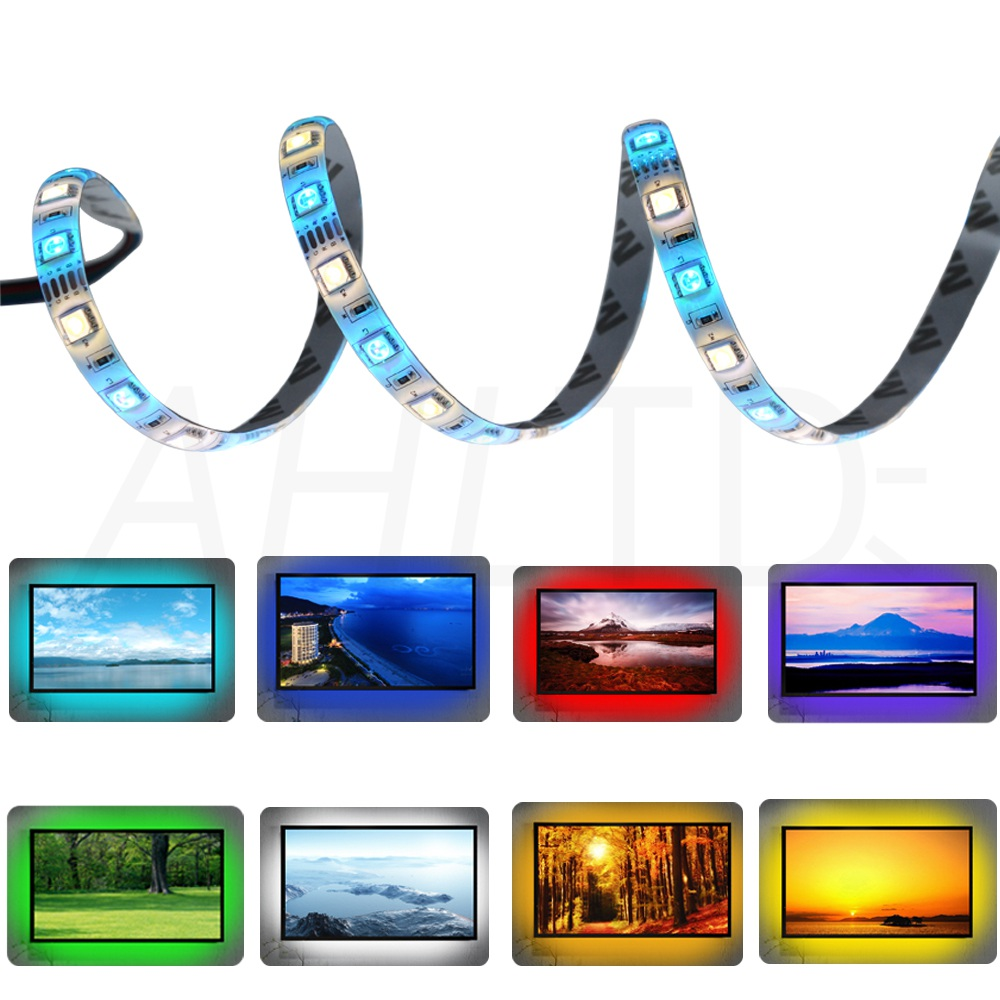 Ahltd 5050 DC 12V 5M RGBWW LED Strip Waterproof Non Waterproof RGBWW Light Flexible with 3A Power and Remote Controller full set