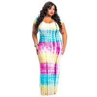 Women Floral Short Sleeve Boho Beach Dress Ladies Party Long Dress Vestidos 4XL Plus Size Summer