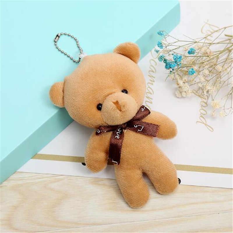 1PCS MINI Plush Conjoined หมีของเล่นจี้ PP ผ้าฝ้ายตุ๊กตาหมีตุ๊กตาของเล่นตุ๊กตาวันหยุดของขวัญ 12 ซม.HANDANWEIRAN