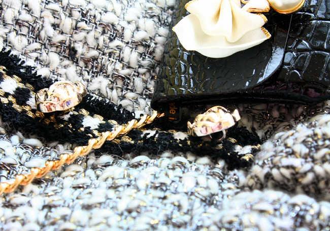 送料無料手作り犬服ヴィンテージ c スタイルグレーツイード模造ワニ革バッグ犬ドレス秋冬春