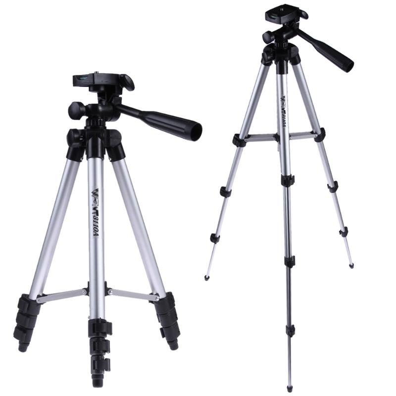 Alloyseed Adjustable Aluminum Camera Tripod Stand Video Tripod Stabilizer With Hydraulic Ball Head 1/4 Screw Mount Adapter low price monitor head tripod camera telescope mini stand adjustable tripod free shipping page 1