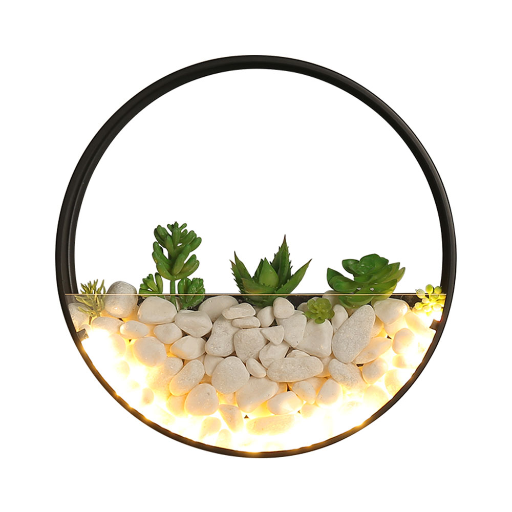 US $68 02 31% OFF|Nordic Wall Lamp Plants Glass Pot Modern LED Wall Scones  For Living Room Beside Light Corridor Sconce Wall Light Wall Art Decor-in