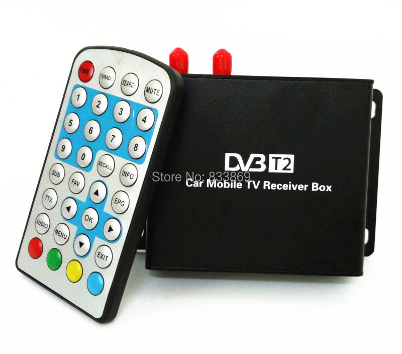 Car DVB-T2 Digital TV Receiver Double Tuner USB HDMI for Russia Thailand Columbia Indonesia Singapore Speed Up To 160-180km/h dvb t2 car 180 200km h digital car tv tuner 4 antenna 4 mobility chip dvb t2 car tv receiver box dvbt2