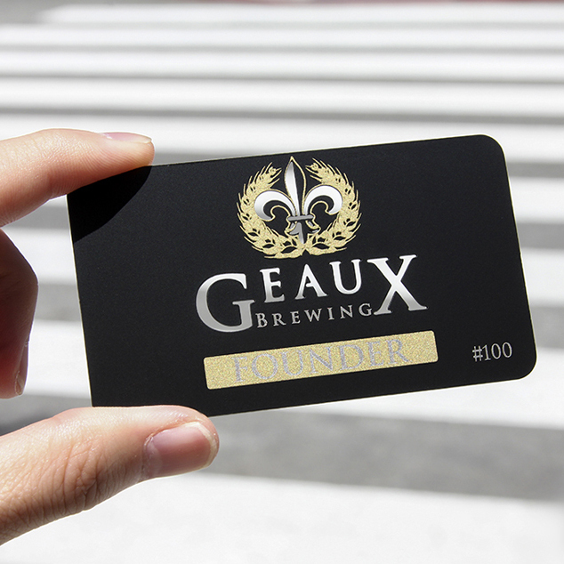 Quality  Personalized Gold Brushed Metal  Business Card Laciness