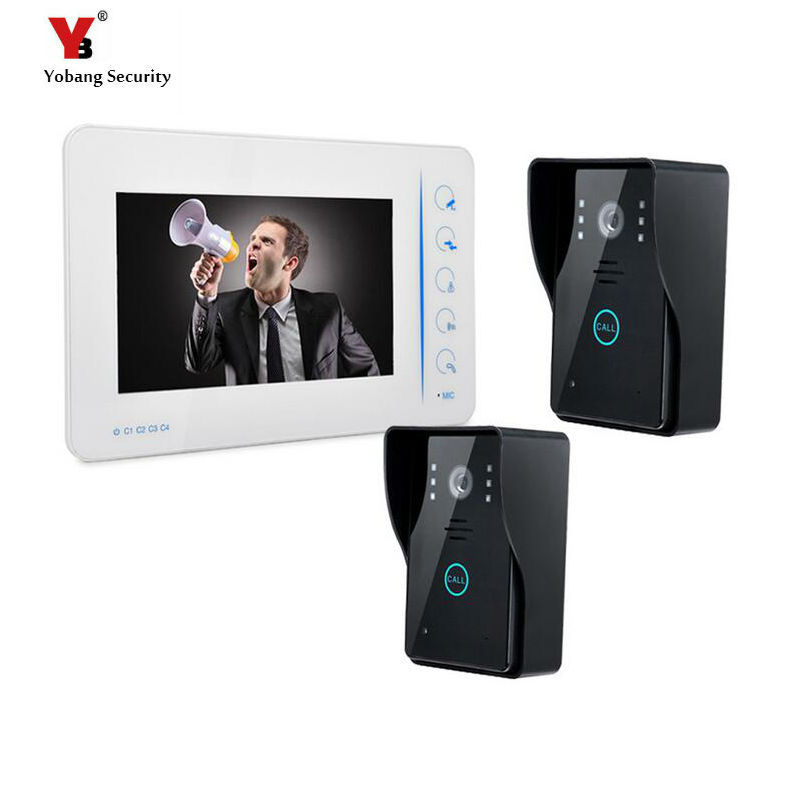 Yobang Security 7 LCD Video Intercom Doorbell Door Peephole Intercom IR Camera LCD Wide Angle Visual Monitor Video Door Phone