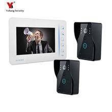Yobang Security 7″ LCD Video Intercom Doorbell Door Peephole Intercom IR Camera LCD Wide Angle Visual Monitor Video Door Phone