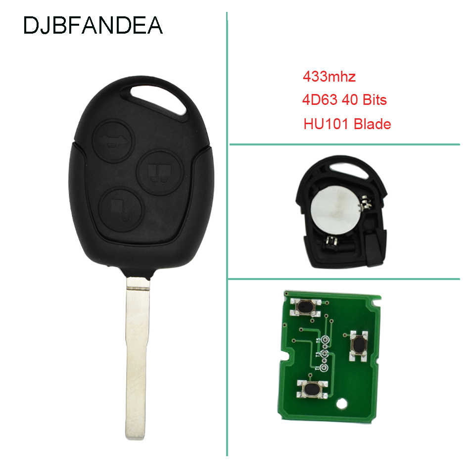 3 Button Remote Key 433MHZ 4D63 Chip for Ford Mondeo Focus Galaxy Fiesta C-Max