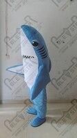 Blau körper weißen bauch shark maskottchen kostüm hand machen qualität blue fish maskottchen kostüme