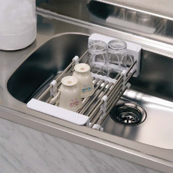 Kitchen Sink Dish Rack Insert Countertop Storage Organizer Tray ...