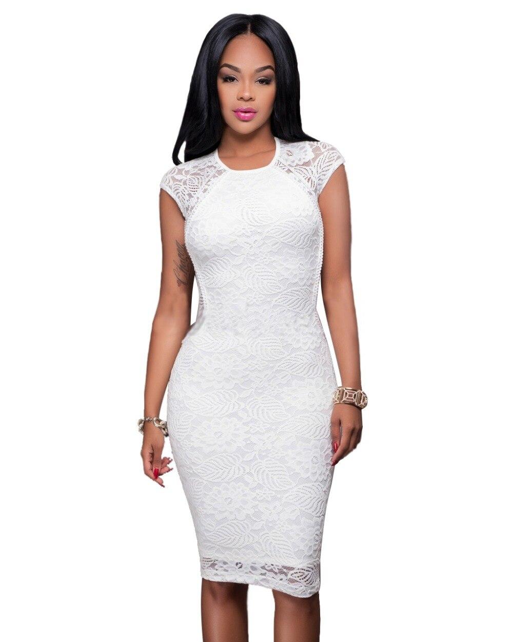 Платья белые кружевные до колен фото