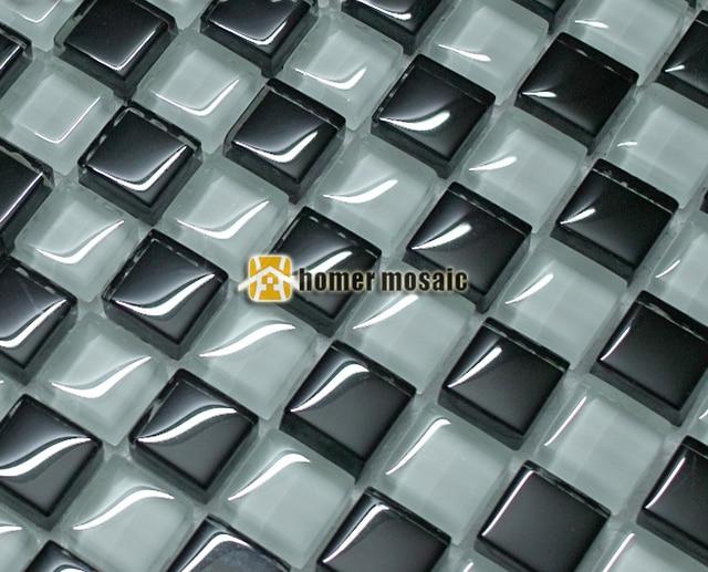 In bianco e nero mosaico di vetro piastrelle ehgm per piscina