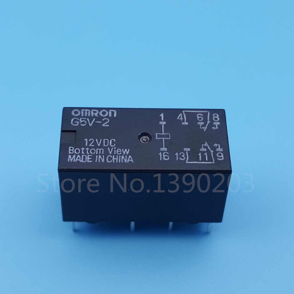 10pcs omron g5v 2 dc12v dpdt 8pin pcb mount low cost signal relay  [ 1000 x 1000 Pixel ]