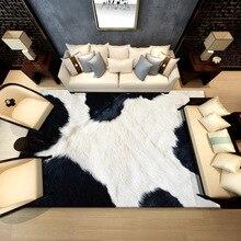 YOOSA New animal fur leather leopard print living room bedroom carpet rugs mats alternative feather decorative mats wholesale yoosa белый