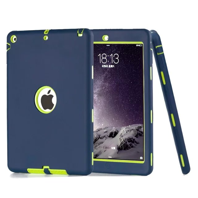 HOT! case For iPad 5 Cover Shockproof Kids Protector Case for apple ipad air case air1 cover PC+Silicone Hybrid Robot+Stylus Pen 8 inch video door phone doorbell intercom system home access control system rfid video recoreding and photo storage and playback