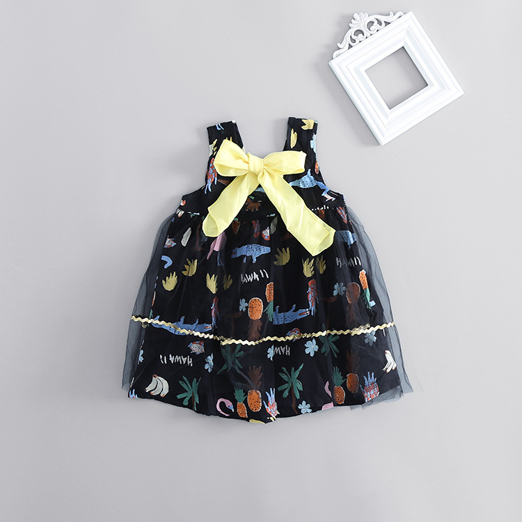 Baby Girl Dress Bebe Children Clothing Wedding Party Girls Dresses birthday Clothes Newborn Princess Infant Dress mesh with bow