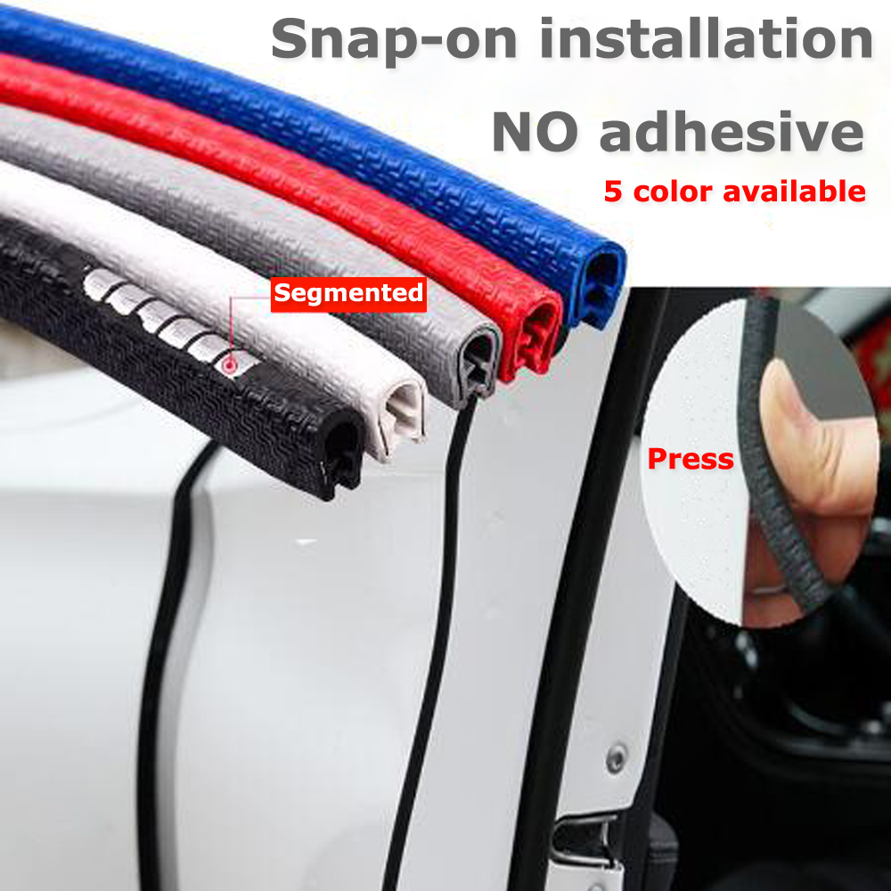 Upgrade 5M Car Door Edge Protection Strips Car Stickers Car Styling Moldings Rubber Door Protector Anti Collision Strips Scratch