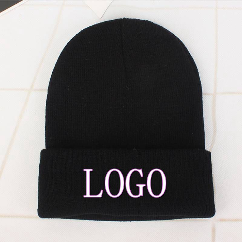 Generous Myzoper 2019 New Diy Embroidery Letter Name Digital Knitted Hat Custom Logo Casual Tide Solid Hip Hop Cap Adult Cap Men's Skullies & Beanies Men's Hats