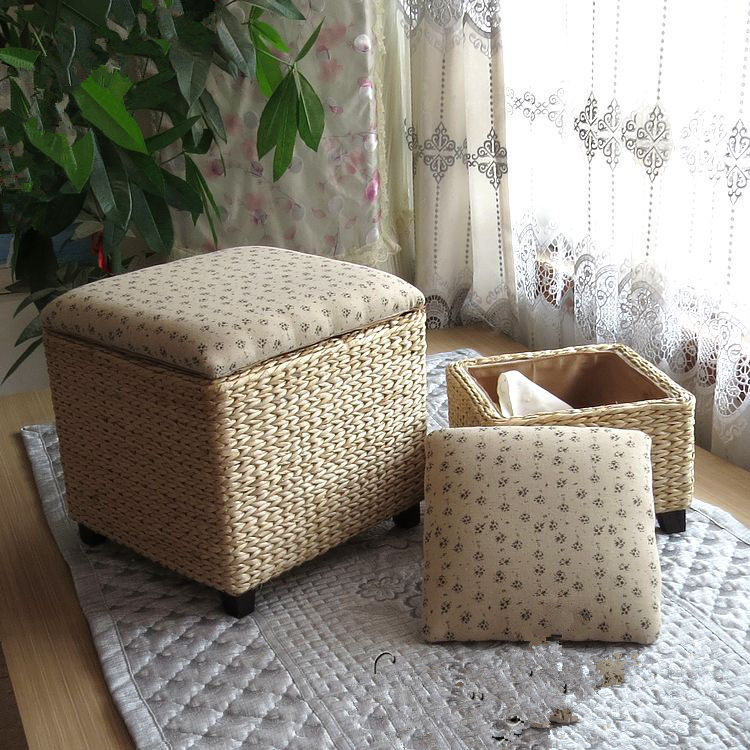 Aliexpress.com : Buy Wonderland Handmade Pastoral Rattan Vine Bamboo Stool Storage  Ottoman Home Furniture Living Room/Bedroom,Chinese Style S 13 from ... - Aliexpress.com : Buy Wonderland Handmade Pastoral Rattan Vine