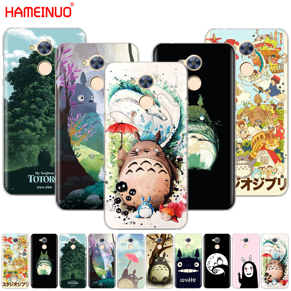 HAMEINUO My Neighbor Totoro <font><b>Anime</b></font> Cover phone Case for <font><b>Huawei</b></font> <font><b>Honor</b></font> 10 V10 4A 5A 6A 7A 6C 6X 7X 8 <font><b>9</b></font> <font><b>LITE</b></font> image