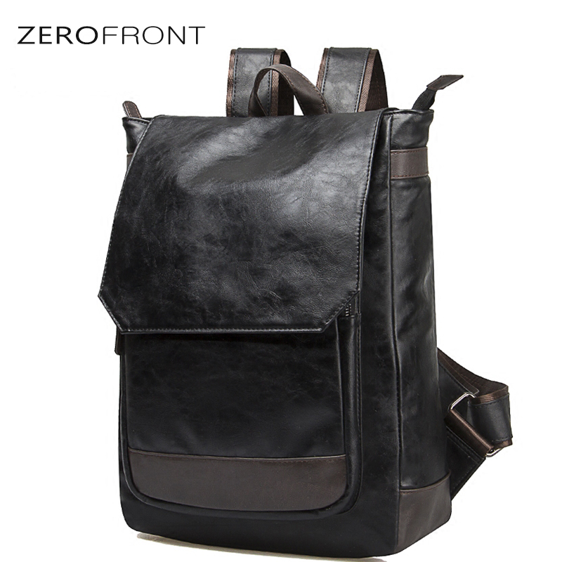 ZF New Fashion Japan & Korean Style PU Leather Backpack For Mens Student Black Pack For School Large Capacity Mens mochilaZF New Fashion Japan & Korean Style PU Leather Backpack For Mens Student Black Pack For School Large Capacity Mens mochila