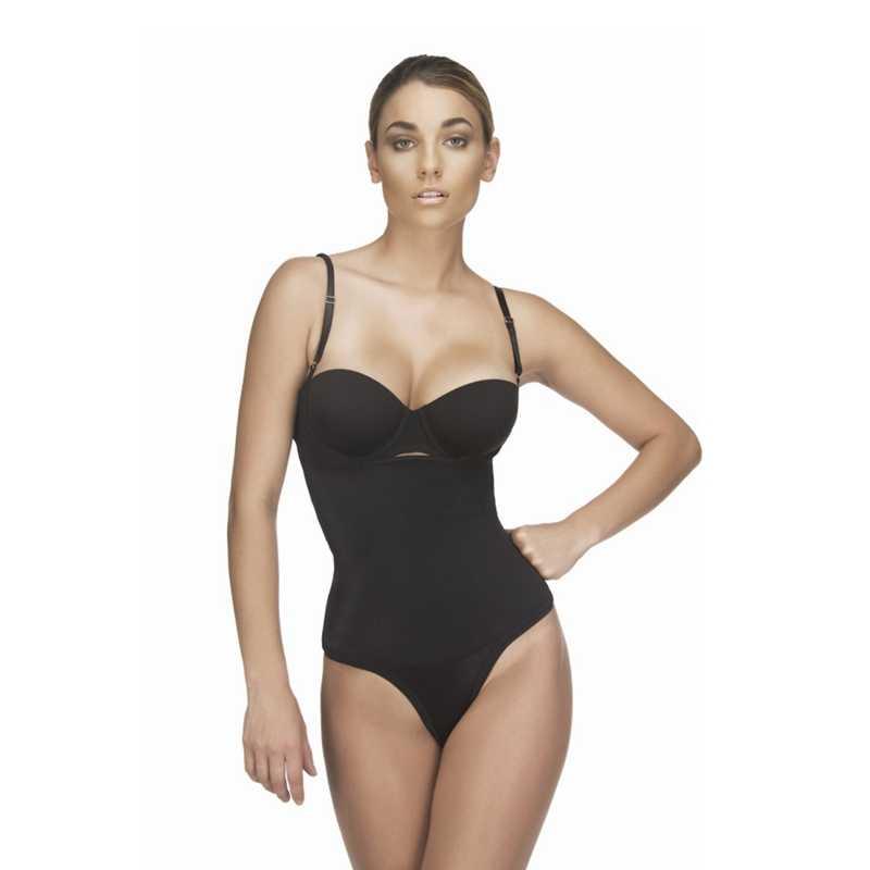 a54840cabbcc ... 3XL Latex Shaper Bodysuit Women Postpartum Firm Control Thongs Full Body  Briefer Shapewear Model Stap Waist ...