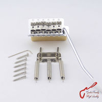 1 Set GuitarFamily Super Quality Chrome Vintage Tremolo System Bridge With Brass Block For Fender Strat