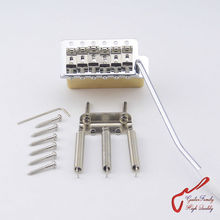 1Set GuitarFamily Super Quality Chrome Vintage Tremolo System Bridge With Brass Block For Mexico Fender/Squier CV MADE IN TAIWAN