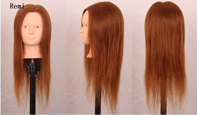 Hair Styling Mannequin Head: 100% Human Hair Mannequin Head Hairdressing Practice
