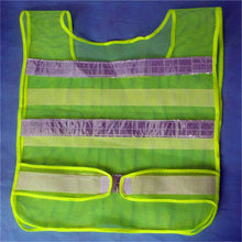Good Sale Reflective Safety Vest 2 Strips Waistcoat for Construction Traffic Warehouse Green