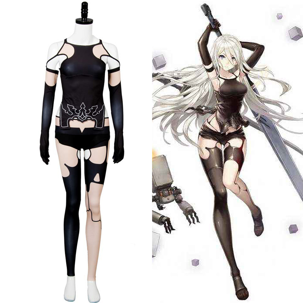 NieR Automata A2 Cosplay Costume  YoRHa Type A No. 2 Cosplay Full Set Women Halloween Costumes Women Sexy Costume Full Set