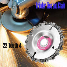 4 Inch Grinder Chain Disc Circular Saw Blade and 22 Tooth Fine Cutting Set