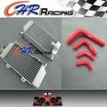 Алюминиевый Радиатор + Красный силиконовый шланг для Honda CRF250 CRF250R CRF250X 04-09