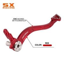 אופנוע אדום אלומיניום אחורי רגל בלם מנוף דוושת עבור הונדה CRF150F CRF230F CRF 150F 230F 2003 2009 2012  2017 אופני עפר