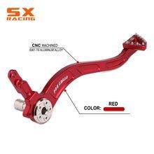 Красная алюминиевая педаль заднего тормоза для мотоцикла HONDA CRF150F CRF230F CRF 150F 230F 2003 2009 2012 2017 внедорожный велосипед