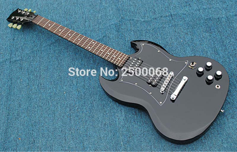 custom sg 400 guitar black zebra pickups hot selling sg style electric guitar free shipping in. Black Bedroom Furniture Sets. Home Design Ideas