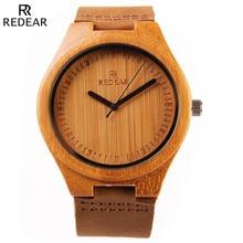 Watches Women 2017 Soft Genuine Leather Band Quartz Wood Bamboo Wrist Watch Woman Ladies Sport Watch Clock Female Men Relogio