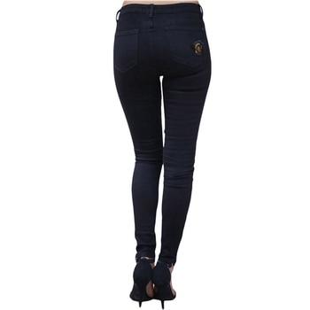 High Waist Jeans for Women Fashion Slim Hole Leopard Patchwork Long Jeans Sexy Ripped Denim jeans pants push up jeans boyfriend 3