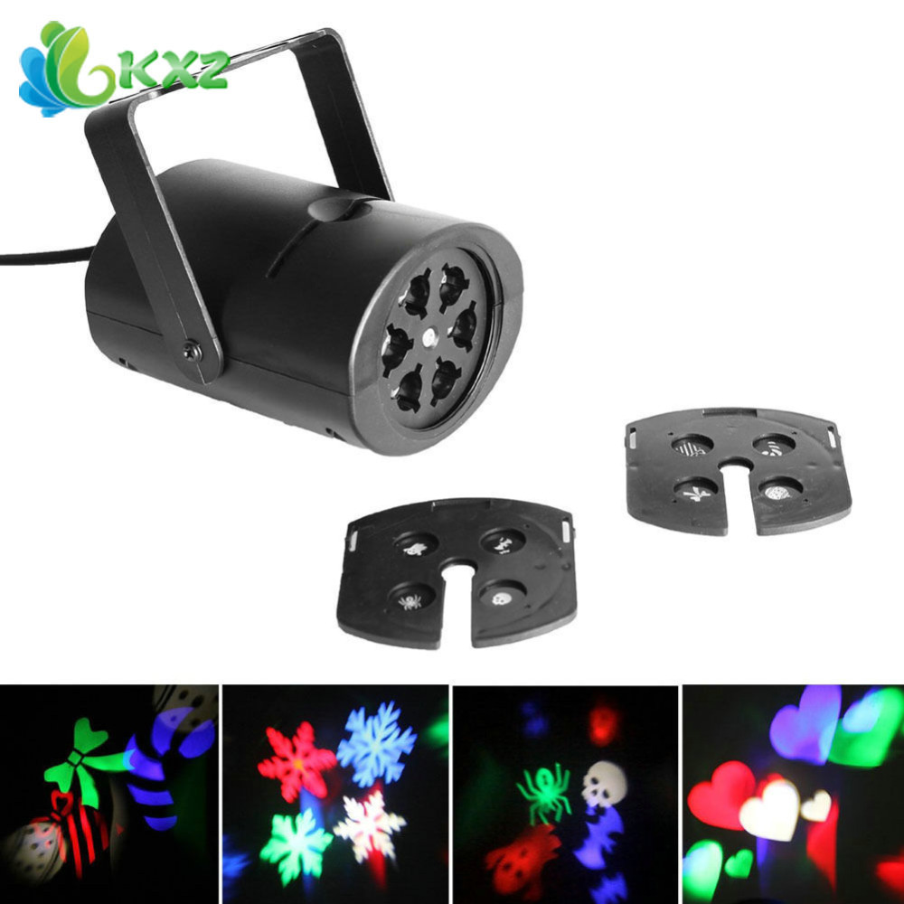 4W 8 Patterns Waterproof RGBW LED Stage Effect Light Laser Projector for Xmas Christmas Party Disco