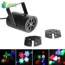 4W 8 Patterns Waterproof RGBW LED Stage Effect Light Laser Projector for Xmas Christmas Party Disco DJ Bar Club KTV Lamp