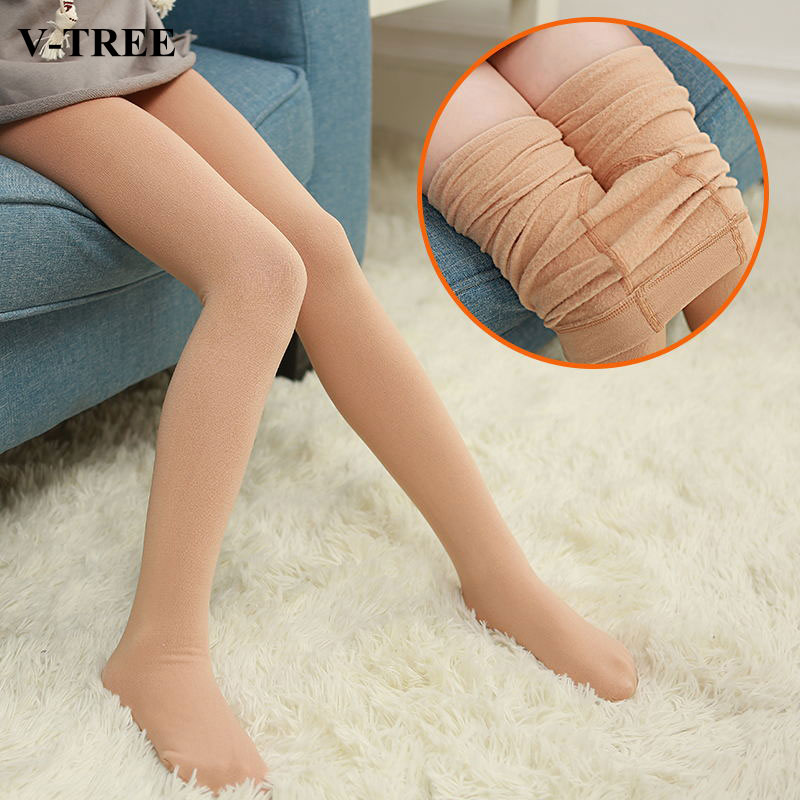 Winter Girls Stocking Thicken Tight For Girls Fleece Pantyhose Girl Warm Children Pantys Dance Toddler Tights School Clothing