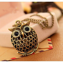 x168 Vintage Cute Owl Pendant Necklace For Women High Quality Fashion Long Sweater Necklace Birthday Gift Wholesale Dropshipping