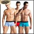 Los hombres del boxeador de la alta calidad sexy underwear calzoncillos masculinos u convexa bolsa de hombre calzoncillos