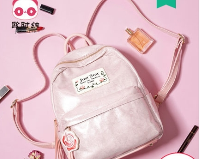 Princess sweet lolita Spring cloth embroidered double shoulder bag Korean tassel schoolbag Travel Backpack student women 171804 tassel bag backpack 2018 korean new