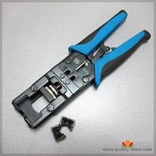 Multifunktionale modular tools jack terminal werkzeug Einweg draht und cut 8 drähte Vereinfachte kabel presse 90 180 grad modul