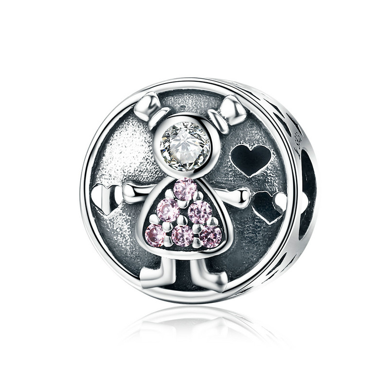 Beads Jewelry & Accessories Iinbeaut 100% 925 Sterling Silver Colorful Childhood Memory Pink Swing Trojan Horse Charm Beads Fit Original Bracelet Children