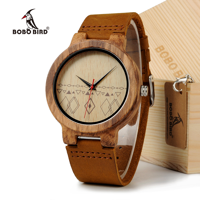 все цены на BOBO BIRD Mens Retro Design Brand Luxury Wooden Bamboo Watches With Cow Real Leather Quartz Watch in Gift Box