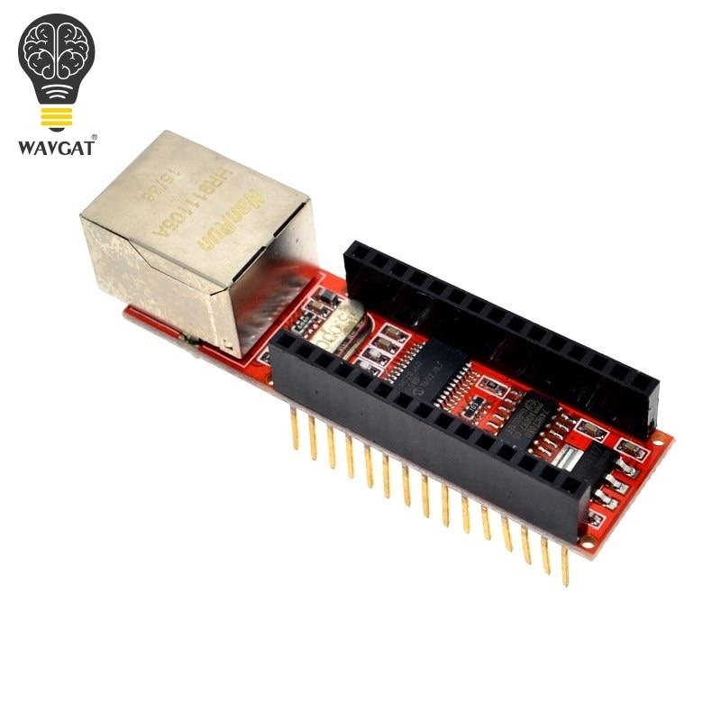1PCS ENC28J60 Ethernet Shield V1.0 Nano 3.0 RJ45 Webserver Module Red