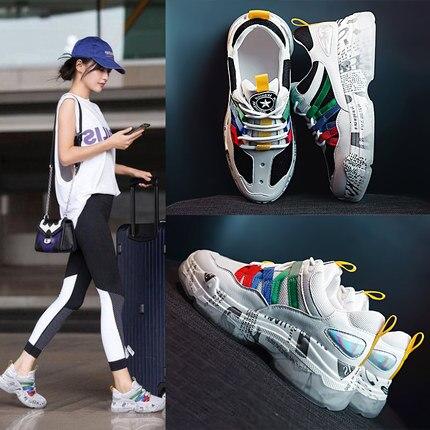 2 Coréenne Ins Ulzzang Chaussures 2018 Sauvage Harajuku 1 Version Blanc Course Nouvelle Sport De 88xOEq